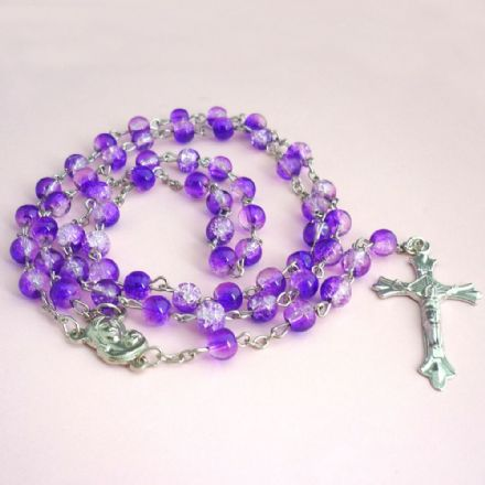 Rosary Beads for Children in Purple